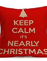 Недорогие -Наволочки Новогодняя тематика / Праздник Хлопковая ткань Прямоугольный Оригинальные Рождественские украшения