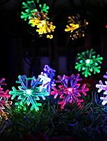 Недорогие -5 метров Гирлянды 20 светодиоды Разные цвета Работает от солнечной энергии / Декоративная / Cool Солнечная энергия