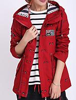 baratos -Mulheres Jaqueta Básico - Geométrica