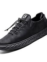 Недорогие -Муж. Комфортная обувь Полиуретан Осень На каждый день Кеды Нескользкий Черный / Красный