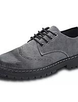 Недорогие -Муж. Fashion Boots Свиная кожа / Полиуретан Осень Английский Туфли на шнуровке Нескользкий Ботинки Черный / Серый / Коричневый