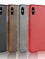 preiswerte -Hülle Für Apple iPhone XS / iPhone XR Geprägt Rückseite Solide Hart PU-Leder für iPhone XS / iPhone XR / iPhone XS Max