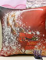 abordables -Housse de coussin Noël / Vacances Tissu en Coton Rectangulaire Nouveautés Décoration de Noël