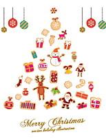 baratos -Filme de Janelas e Adesivos Decoração Natal Férias PVC Adesivo de Janela / Shop / Cafe