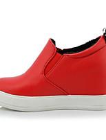 abordables -Femme Chaussures de confort Polyuréthane Printemps Chaussures à Talons Hauteur de semelle compensée Blanc / Noir / Rouge