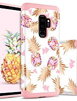 Недорогие -Кейс для Назначение SSamsung Galaxy S9 Plus Защита от удара / С узором Кейс на заднюю панель Растения / Фрукты Твердый ПК / силикагель для S9 Plus