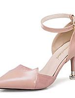 Недорогие -Жен. Балетки D'Orsay Полиуретан Осень На каждый день Обувь на каблуках На шпильке Бежевый / Желтый / Розовый / Повседневные