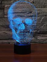 Недорогие -1шт 3D ночной свет Поменять USB Cool / Градиент цвета 5 V