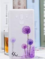 Недорогие -Кейс для Назначение Huawei Mate 10 pro / Mate 10 lite Прозрачный / С узором Кейс на заднюю панель одуванчик Мягкий ТПУ для Mate 10 / Mate 10 pro / Mate 10 lite