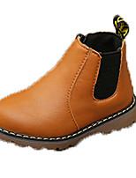 Недорогие -Девочки Обувь Кожа Наступила зима Ботильоны Ботинки Для прогулок для Дети Черный / Серый / Желтый