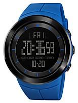 Недорогие -SKMEI Муж. Спортивные часы Армейские часы Японский Цифровой 50 m Будильник Секундомер С двумя часовыми поясами PU Группа Цифровой На каждый день Мода Черный / Синий / Красный - Зеленый Синий Хаки