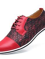 Недорогие -Муж. Комфортная обувь Искусственная кожа Весна лето Кеды Желтый / Красный / Синий