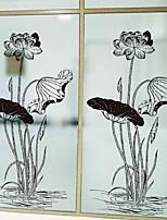 Недорогие -Оконная пленка и наклейки Украшение Художественные / Ретро Цветочный принт ПВХ Новый дизайн / Cool