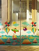 Недорогие -Оконная пленка и наклейки Украшение Обычные Персонажи ПВХ Стикер на окна