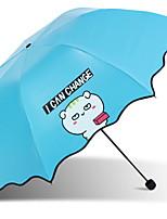 Недорогие -Нержавеющая сталь Все Солнечный и дождливой / Новый дизайн Складные зонты