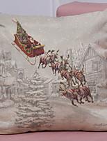 economico -Copricuscino Natale Stoffa (cotone) Quadrato Feste Decorazione natalizia