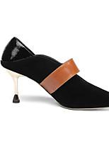 abordables -Femme Escarpins Daim / Peau de mouton Printemps Chaussures à Talons Talon Aiguille Noir