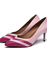 Недорогие -Жен. Балетки Полиуретан Лето Обувь на каблуках На шпильке Черный / Желтый / Розовый