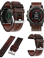 billiga -Klockarmband för Fenix 5x Garmin Sportband / Läderloop Läder Handledsrem
