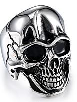 economico -Per uomo Vintage / Scultura Anello - Acciaio al titanio Teschio Alla moda, Vintage, Punk 10 / 11 / 12 Argento Per Carnevale / Strada