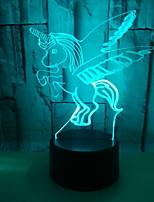 Недорогие -1шт 3D ночной свет Поменять USB Сенсорный датчик / Cool 5 V