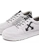 Недорогие -Муж. Комфортная обувь Полиуретан Осень На каждый день Кеды Дышащий Черный / Бежевый / Серый