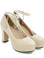 abordables -Femme Chaussures de confort Polyuréthane Printemps Chaussures de mariage Talon Aiguille Blanc / Noir / Rose / Mariage