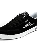 Недорогие -Муж. Комфортная обувь Полиуретан Осень На каждый день Кеды Дышащий Серый / Черно-белый / Черный / Красный