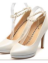 abordables -Femme Chaussures de confort Polyuréthane Printemps Chaussures à Talons Talon Aiguille Blanc / Noir / Rose
