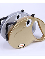 cheap -Dogs / Cats Leash Portable / Adjustable / Retractable Solid Colored ABS Gold / Silver