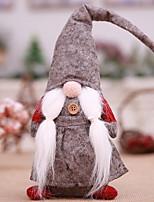 baratos -Ornamentos / Fantasias de Natal Desenho Poliéster Brinquedo dos desenhos animados Decoração de Natal