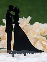 Недорогие -Украшения для торта Классика / Свадьба Аппликация Acryic / полиэстер Свадьба / Годовщина с Акрил 1 pcs Пластмассовая сумка