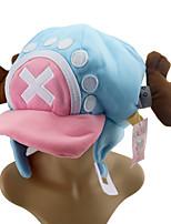 billiga -Hatt / Mössa Inspirerad av One Piece Tony Tony Chopper Animé Cosplay-tillbehör Cap Cotton Halloweenkostymer