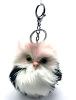 cheap -Owl Stuffed Animal Plush Toy Key Chain Adorable Artificial Wool Girls' Toy Gift 1 pcs