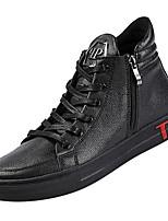 Недорогие -Муж. Комфортная обувь Полиуретан Осень На каждый день Кеды Водостойкий Черный / Красный