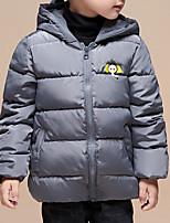 Недорогие -Дети (1-4 лет) Девочки С принтом Длинный рукав На пуховой / хлопковой подкладке
