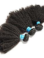 Недорогие -3 Связки Бразильские волосы / Перуанские волосы Афро Не подвергавшиеся окрашиванию / Remy Человека ткет Волосы 8-26 дюймовый Нейтральный Ткет человеческих волос Машинное плетение