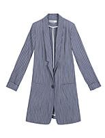cheap -Women's Work Blazer-Striped