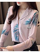 Недорогие -Жен. Блуза Рубашечный воротник Однотонный