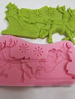 Недорогие -Инструменты для выпечки силикагель Новогодняя тематика Торты Формы для пирожных 1шт