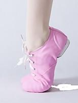abordables -Femme Chaussures de Ballet Toile Basket Talon épais Chaussures de danse Noir / Rose