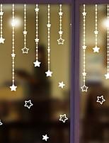 Недорогие -Оконная пленка и наклейки Украшение Обычные / Природа Геометрический принт / Простой ПВХ Стикер на окна / Милый