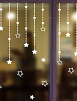 cheap -Window Film & Stickers Decoration Ordinary / Natural Geometric / Simple PVC(PolyVinyl Chloride) Window Sticker / Lovely