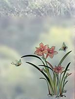 Недорогие -Оконная пленка и наклейки Украшение С цветами Цветы ПВХ Стикер на окна