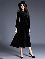 Недорогие -Жен. Классический / Элегантный стиль Оболочка / С летящей юбкой Платье Средней длины