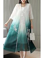 baratos -Mulheres Conjunto Floral Vestidos