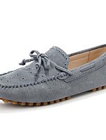 cheap -Men's Moccasin Cowhide Fall Casual Loafers & Slip-Ons Wear Proof Gray / Brown / Khaki