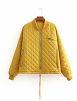 cheap -women's jacket - solid colored v neck