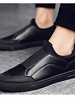 billiga -Herr Komfortskor Syntet Vår Ledigt Loafers & Slip-Ons Vit / Svart / Silver