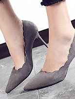 Недорогие -Жен. Комфортная обувь Замша Весна Обувь на каблуках На шпильке Черный / Серый / Темно-зеленый